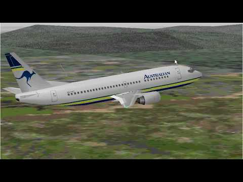 Microsoft Flight Simulator 98 | Launceston to Melbourne | Australian Airlines 737-300