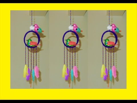 Craft With Feathers and wool || DIY Dream Catcher