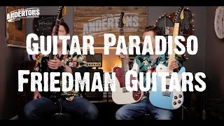 Today mick and pete check out the incredible friedman vintage t guitars. (https://goo.gl/khkv2a)ampsfriedman runt 20 head: https://goo.gl/sy5vbtfriedman runt...