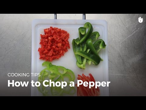 How to chop a pepper | Cook Vegetables