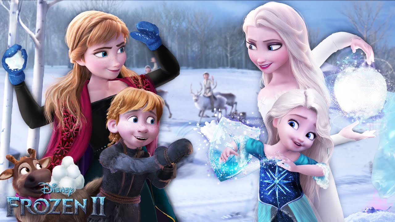 Download Frozen 2: Elsa and Anna in SNOWBALL FIGHT with their children! 💙❄️ Future Frozen   Alice Edit!