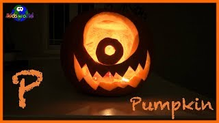 Learning the Alphabet Letter P, the word Pumpkin and the Color Orange | Video for Kids.