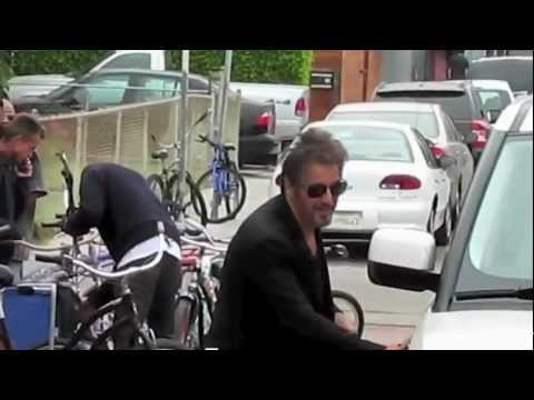 Al Pacino swaps sunglasses with an excited