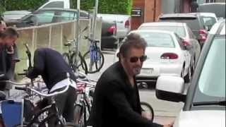 Al Pacino swaps sunglasses with an excited fan