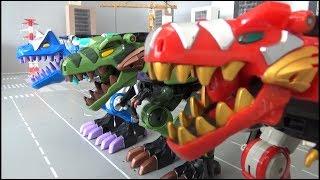 Download lagu Power Rangers Dino Thunder 3 Dinosaur Megazord Toys Transformation 파워레인저 다이노썬더 3대 공룡 로봇 장난감 변신 MP3