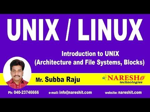 UNIX Architecture and File Systems, Blocks   UNIX Tutorial   Mr. Subba Raju