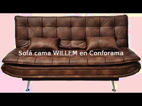 Sof cama willem en conforama youtube for Sofa cama pequeno conforama