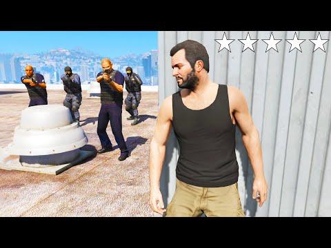 GTA 5 EPIC POLICE CHASE #3 (GTA 5 Five Star Escape Vs Cops)