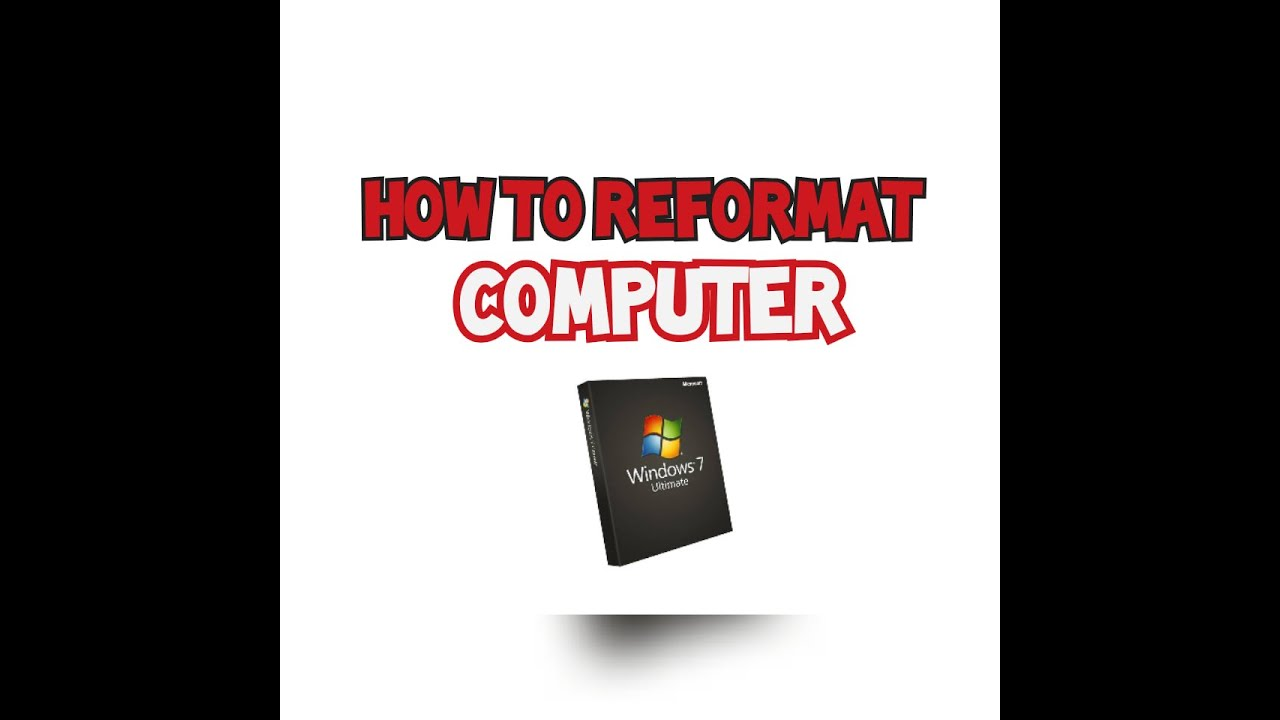 how to reformat windows 7 without cd asus