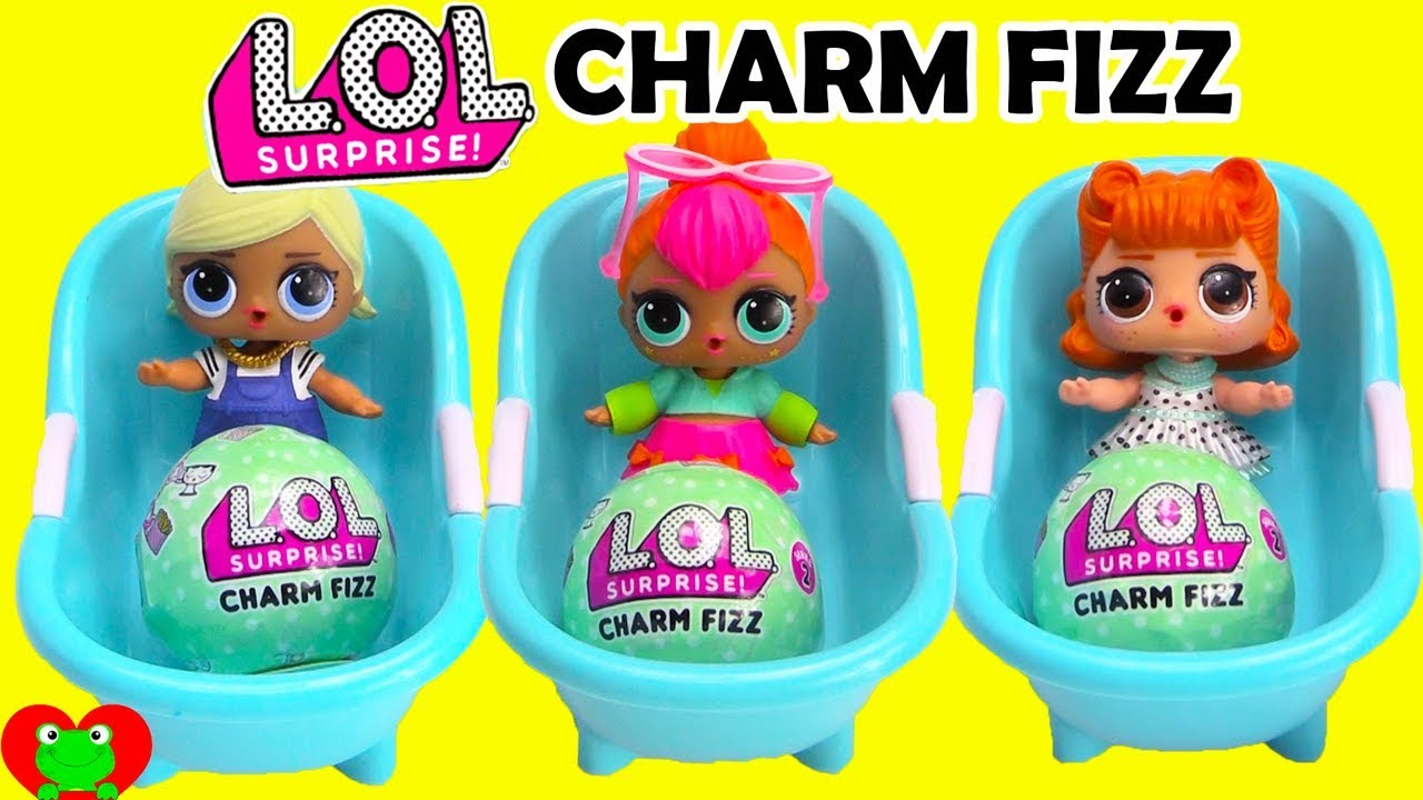Lol Surprise Doll Charm Fizz Bath Bombs Youtube