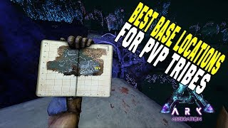 6 BEST BASE LOCATIONS FOR PVP TRIBES - ABERRATION | Ark: Survival Evolved