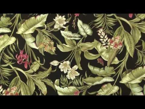 Video of Waverly Sun N Shade Wailea Coast Ebony Fabric #667872