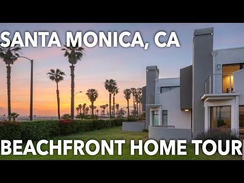 Beachfront Santa Monica home with yard, designer interior, sunset views   21 Sea Colony Dr