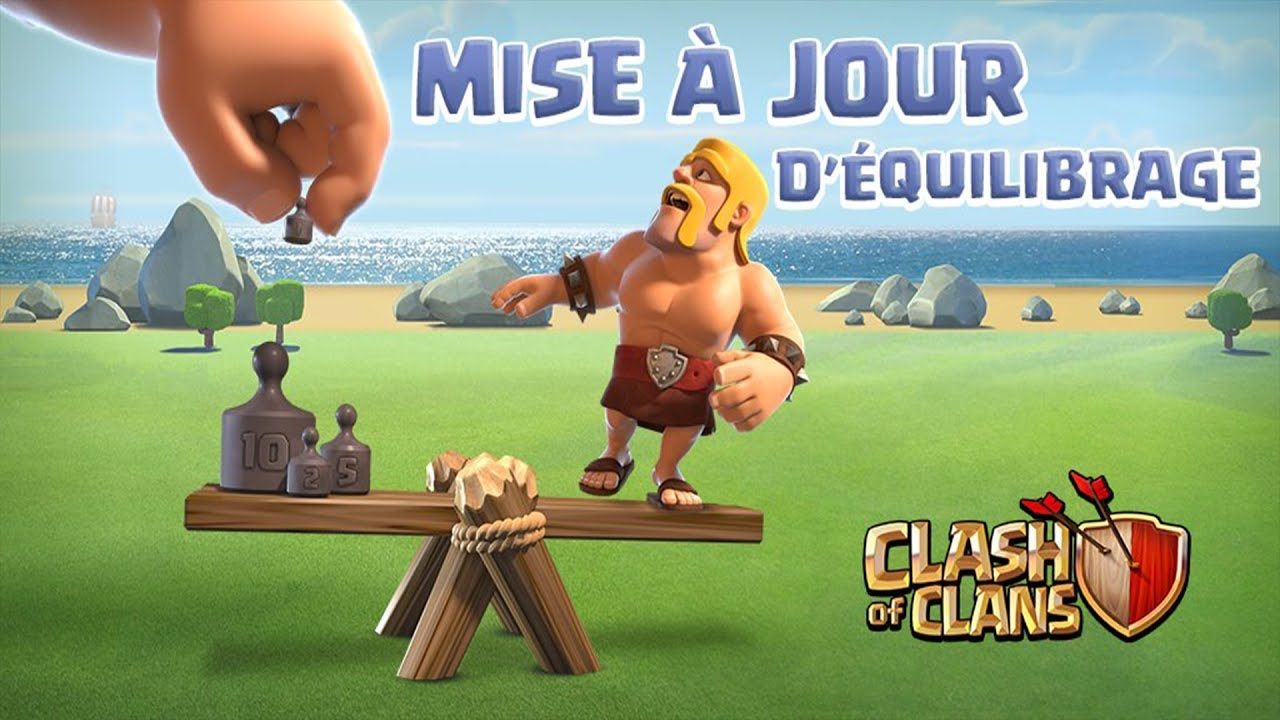 mise a jour d 39 equilibrage de mai 2017 clash of clans fr youtube. Black Bedroom Furniture Sets. Home Design Ideas