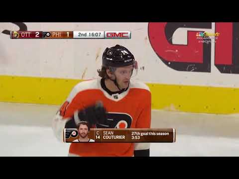 Sean Couturier Goal - Philadelphia Flyers vs Ottawa Senators 2/3/18