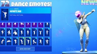 72 DANCE EMOTES With NEW! WHITEOUT Skin! Fortnite Battle Royale