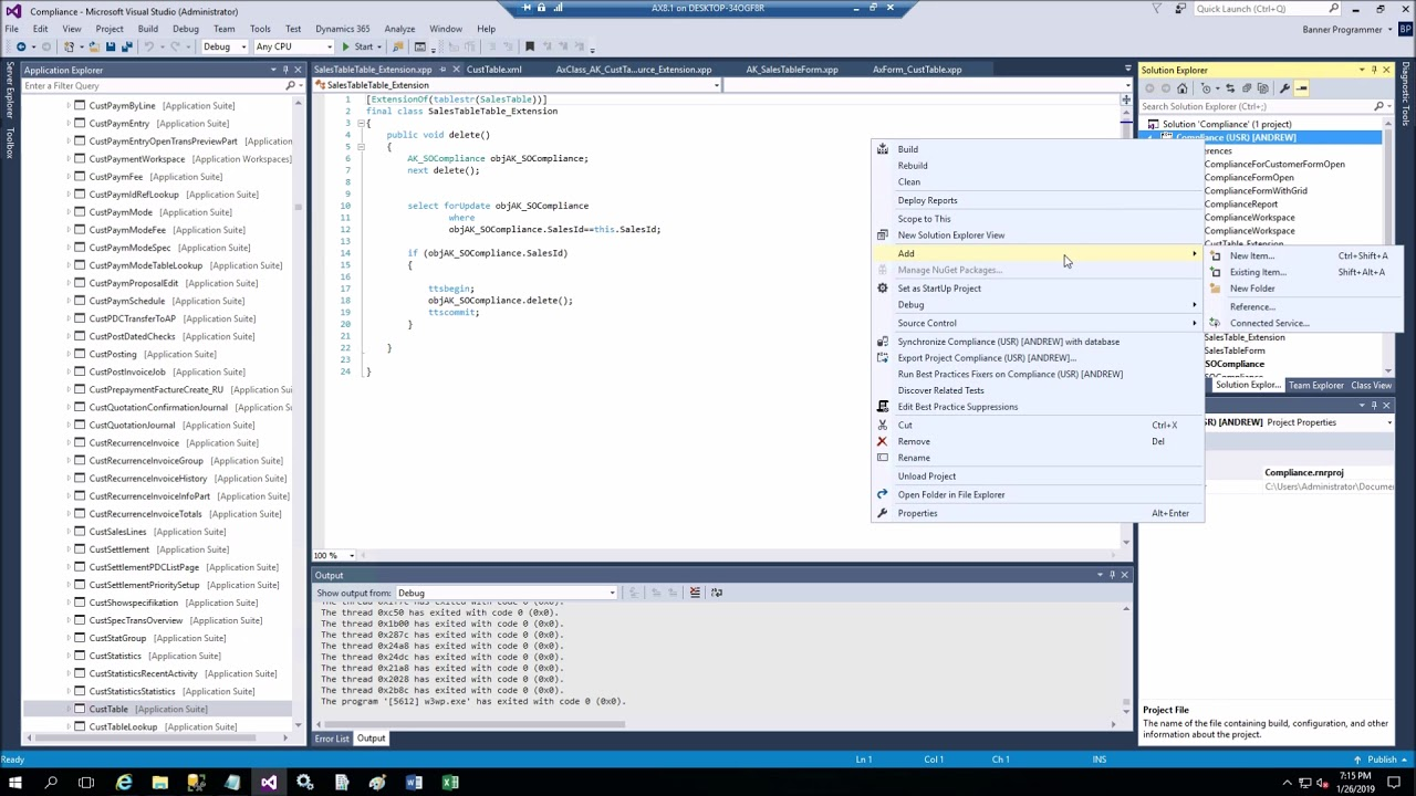 Dynamics 365 Chain of Command Table Delete method wrapper in X++ - begin  coding in 5 minutes