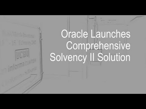 Oracle Launches Solvency II Solution