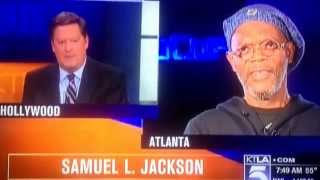 KTLA 5 interview: Sam Ruben w/ Samuel L. Jackson...VERY AWKWARD