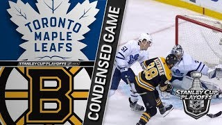 Toronto Maple Leafs vs Boston Bruins – Apr. 12, 2018 | Game 1 | Stanley Cup 2018. Обзор