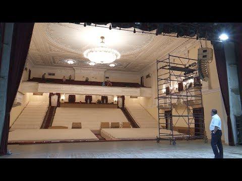 Главная сцена Сергиева Посада – на ремонте