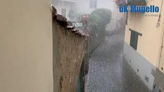 Tempesta di grandine a Borgo San Lorenzo