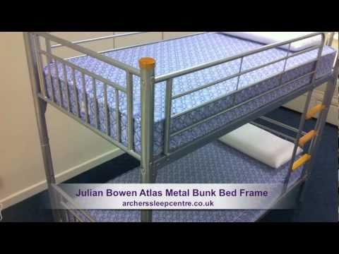 Julian Bowen Atlas Metal Bunk Bed Frame