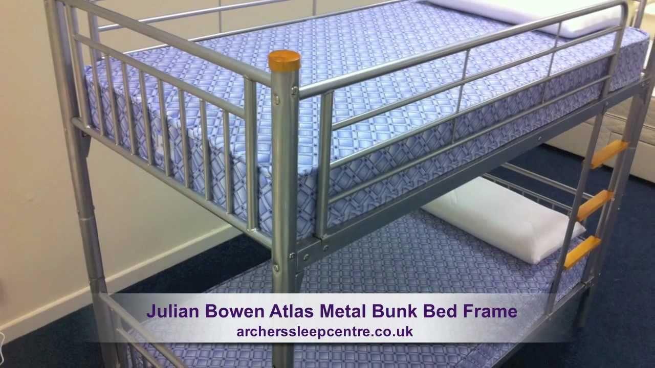 Julian Bowen Atlas Metal Bunk Bed Frame - YouTube