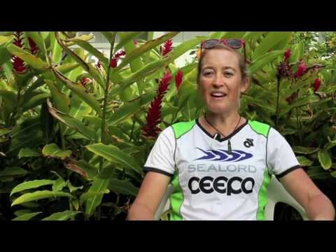 with Triathlete, Anna Ross in Ironman World Championship 2013