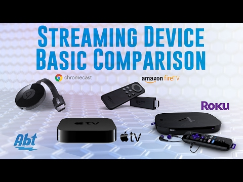 Streaming Device Basic Comparison: Apple TV, Roku, Google Chromecast, Amazon Firestick