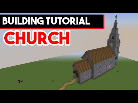 Minecraft Building Tutorial - How to build a church in Minecraft 1.10