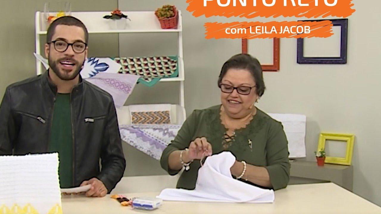 Pano de Copa com Ponto Reto - Leila Jacob   Vitrine do Artesanato na TV