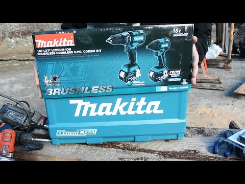 Cordless Drill Upgrade - Makita 18V Lithium-Ion Brushless Cordless Combo Kit Unboxing