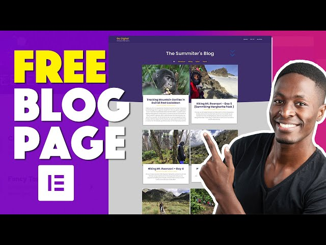 How to Create a Free Blog Archive Page in Elementor 2021