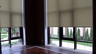 Рулонные Шторы Ролеты панорамные окна большие размеры с  электроприводом(Рулонные Шторы больших размеров на панорамные окна с электроприводом., 2016-08-03T05:17:28.000Z)