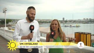 På plats i Ryssland – så mår svenska VM-truppen - Nyhetsmorgon (TV4)
