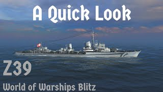 World of Warships Blitz: Z39. A Quick Look