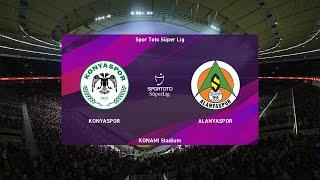PES 2020   Konyaspor vs Alanyaspor - Super Lig   25/07/2020   1080p 60FPS