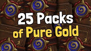 25 Packs of Pure Gold - Hearthstone