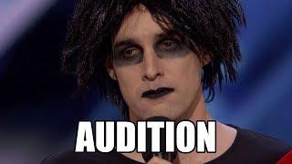 Oliver Graves Gothic Comedian America's Got Talent 2018 Audition|GTF