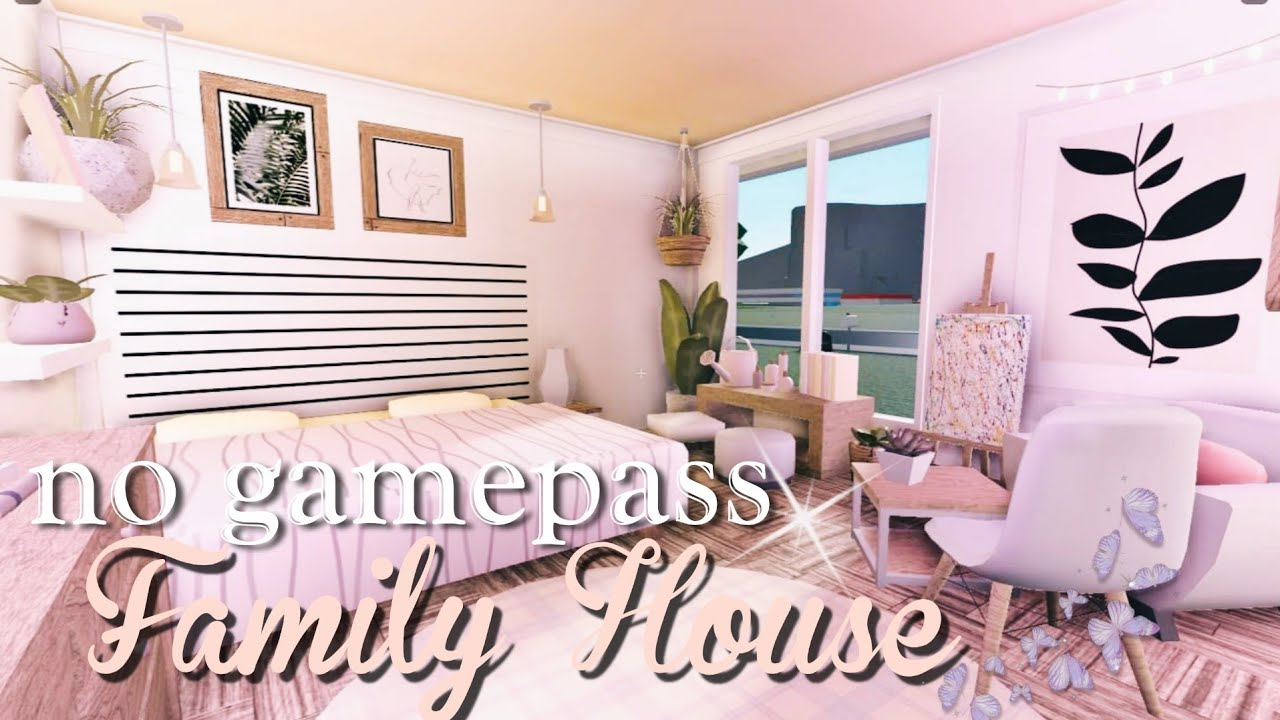 Roblox Bloxburg No Gamepass Family House Youtube