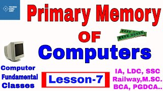 Primary memory management in computer   Fundamental CLASS 7