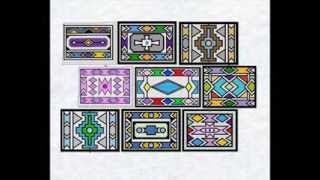 (11) African Art machine embroidery simulation