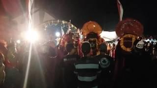 Tragedi tawuran Rogo Samboyo Putro Live Ngampel Kediri Sampai pagar jebol