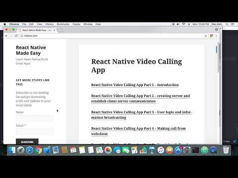 React Native Video Calling App Demo – Part 7