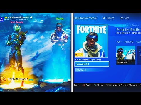 "How To Download FREE ""Blue Striker"" SKIN In Fortnite! (NEW PlayStation Plus Skin + Back Bling Free)"