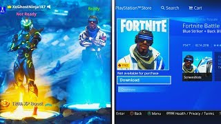 how to download free blue striker skin in fortnite new playstation plus skin back bling free