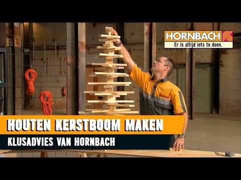 Houten kerstboom maken youtube for Houten vijverbak maken