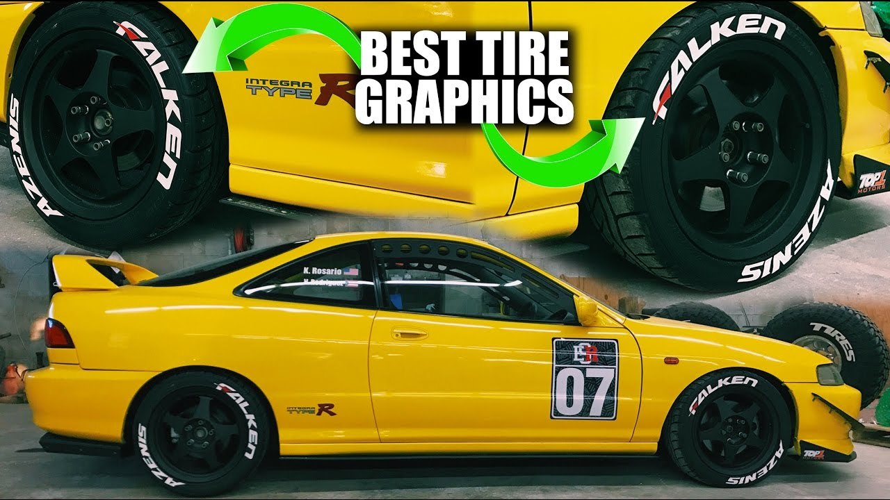 BEST TIRE LETTER KIT JDM Integra Using TredWear Tire Graphics - Acura integra tire size