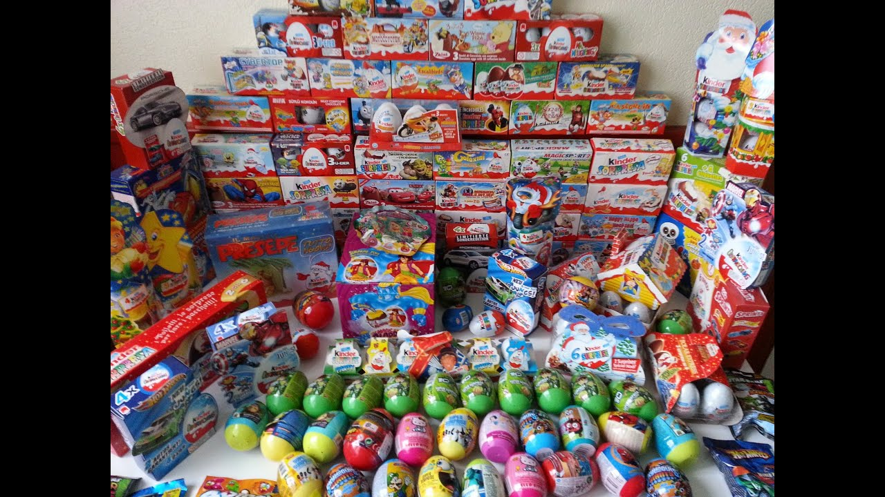 386 Surprise Eggs Kinder Surprise Collection - YouTube